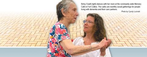 Betsy Ewall dances with mom