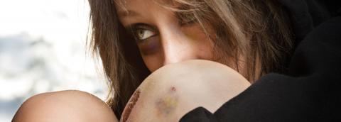abused woman image