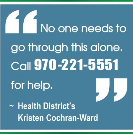 Call 970-221-5551 for help